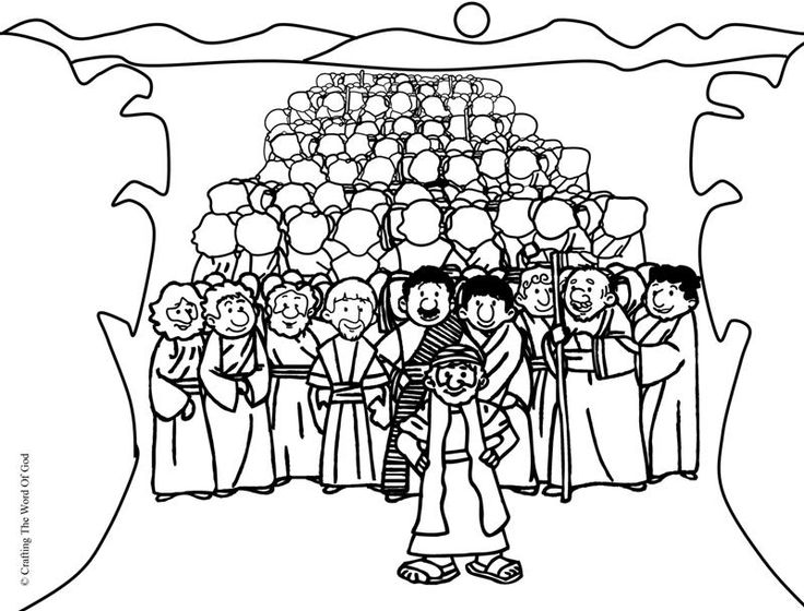 Line Drawing Jerusalem : Crossing the red sea coloring page home
