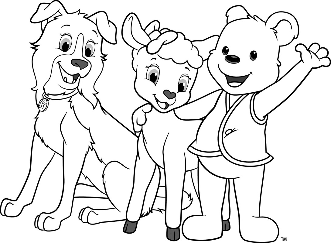 Awana Cubbies Bear Sheep Dog Coloring page