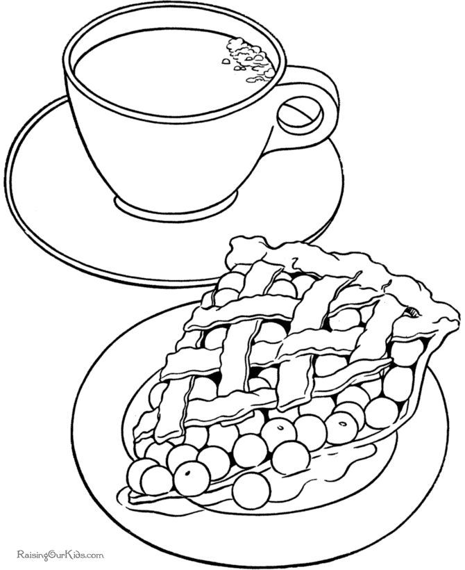 Coloring Pages Apple Pie : Apple pie coloring page home