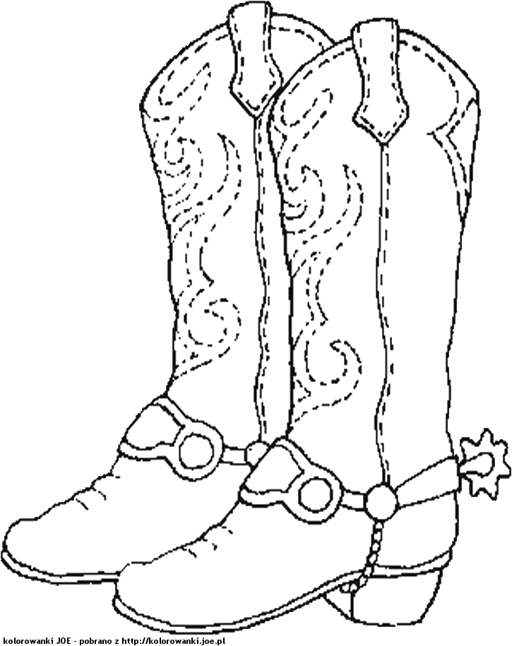 cowboy boots coloring pages free - photo#13