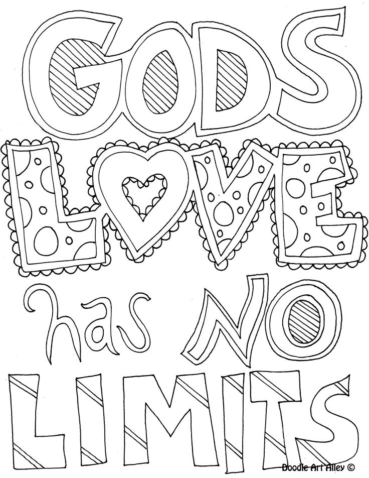 God's Love has No Limits coloring page