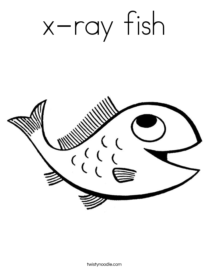 X ray fish coloring page az coloring pages for X ray fish