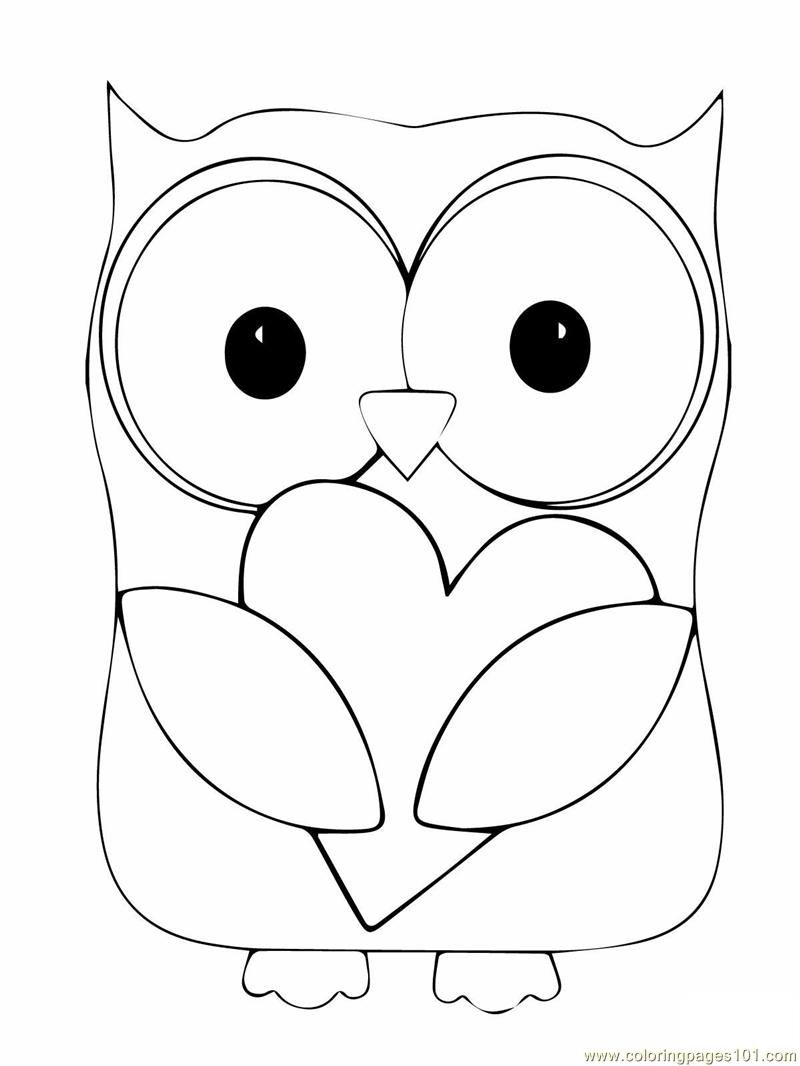 Printable coloring pages i love you - Owl Coloring Owl Coloring Pages 05 Coloring Owl Colouring Games