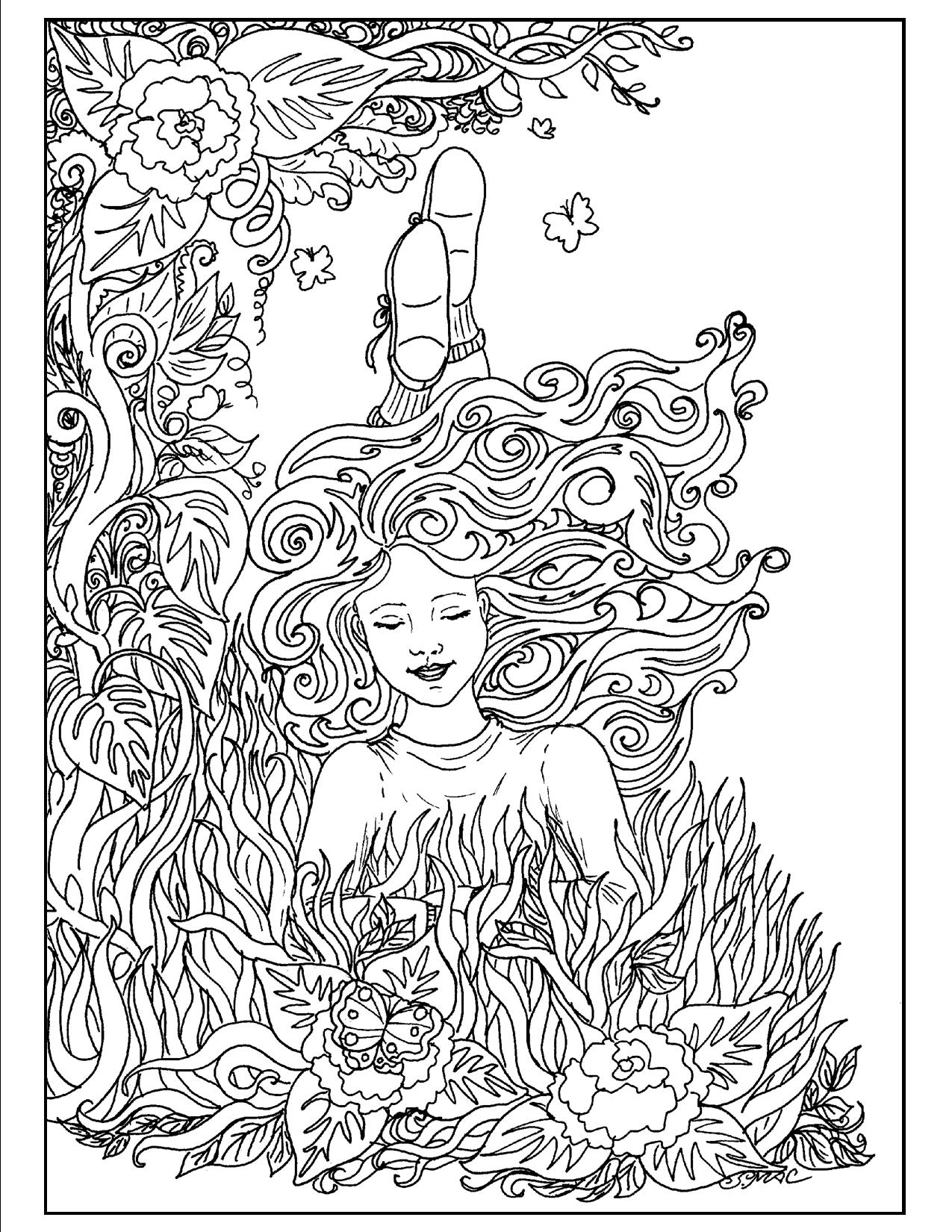Art Nouveau Coloring Pages - Coloring Home