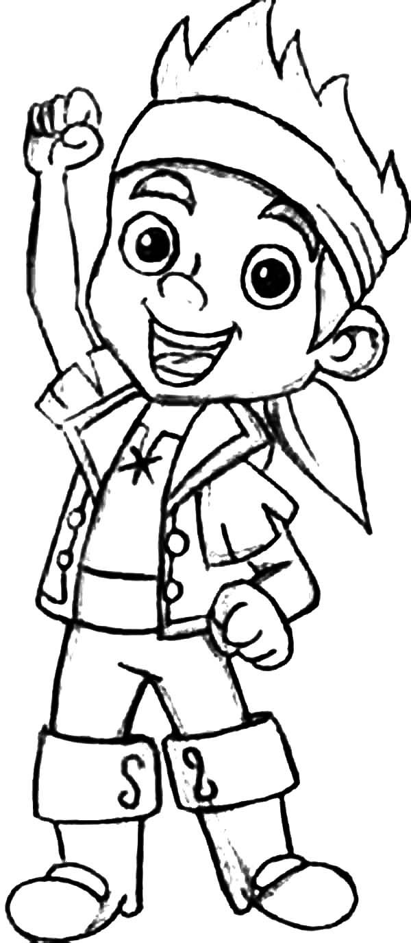 Coloring page jake of the pirate coloring home for Jake and the pirates coloring pages