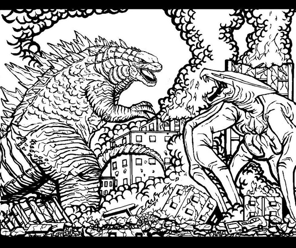 godzilla and coloring pages - photo#43