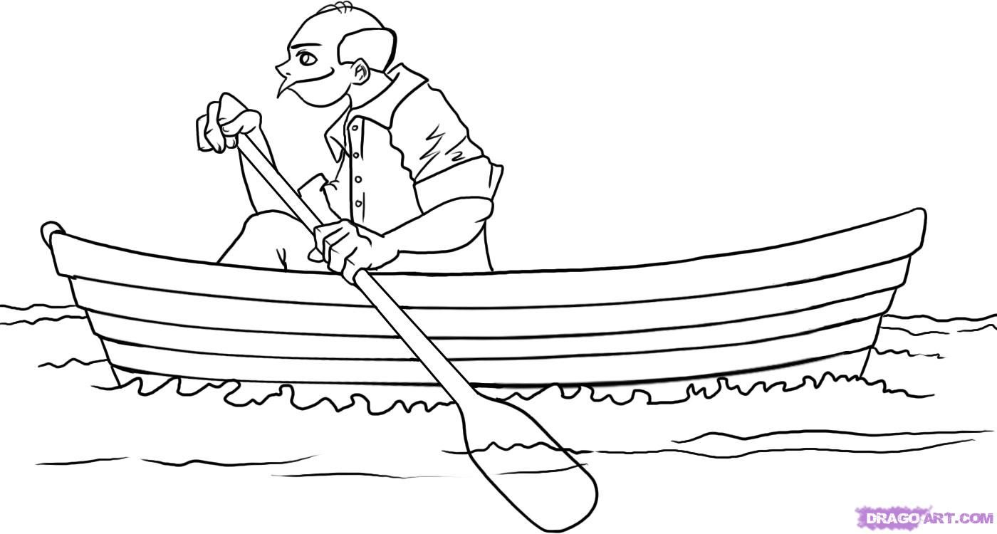 row row row your boat coloring page