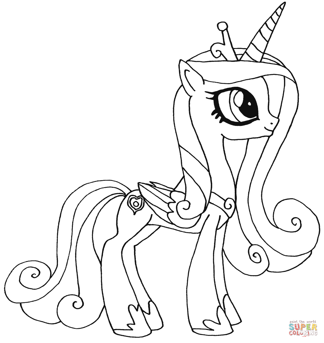 Princess Celestia coloring page | Free Printable Coloring Pages