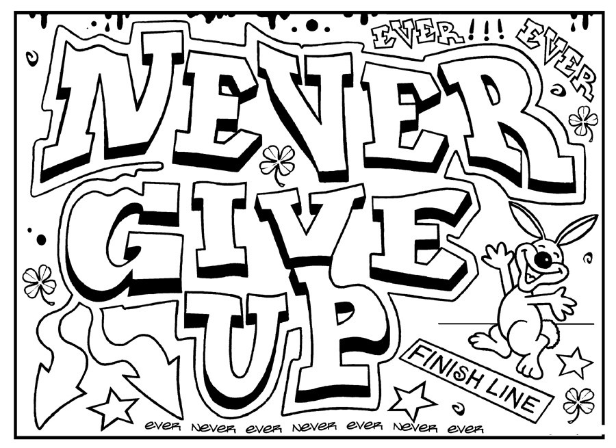 Free Printable Coloring Pages For Adults Inspirational Quotes - Daily Quotes  - Coloring Home