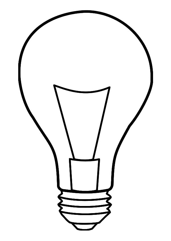 Light Bulb Coloring Pages Coloring Home