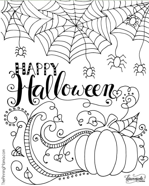 Halloween Activities Coloring Pages - Coloring Home