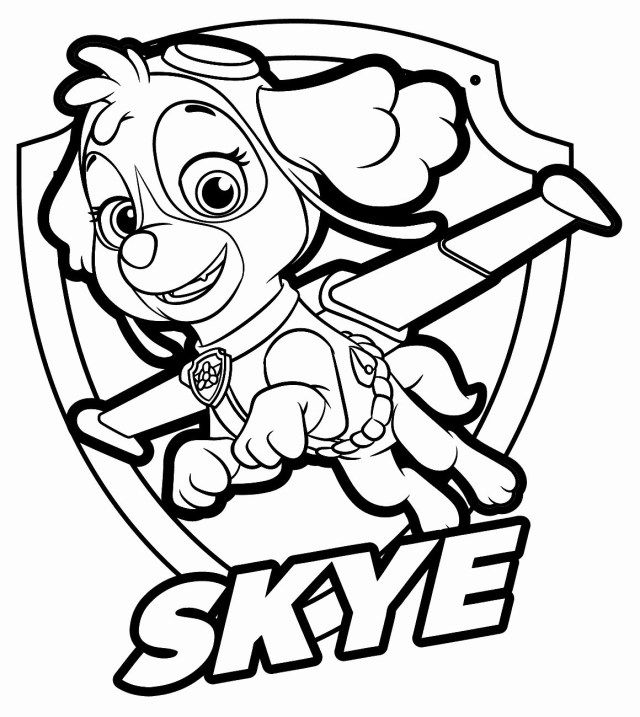 Sky Paw Patrol Coloring Pages - Coloring Home