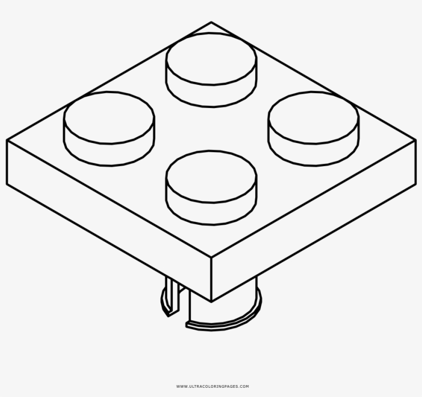Lego Brick Coloring Page - Circle - 1000x1000 PNG Download - PNGkit