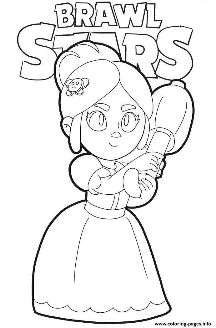 Brawl Stars Piper Coloring Pages Printable