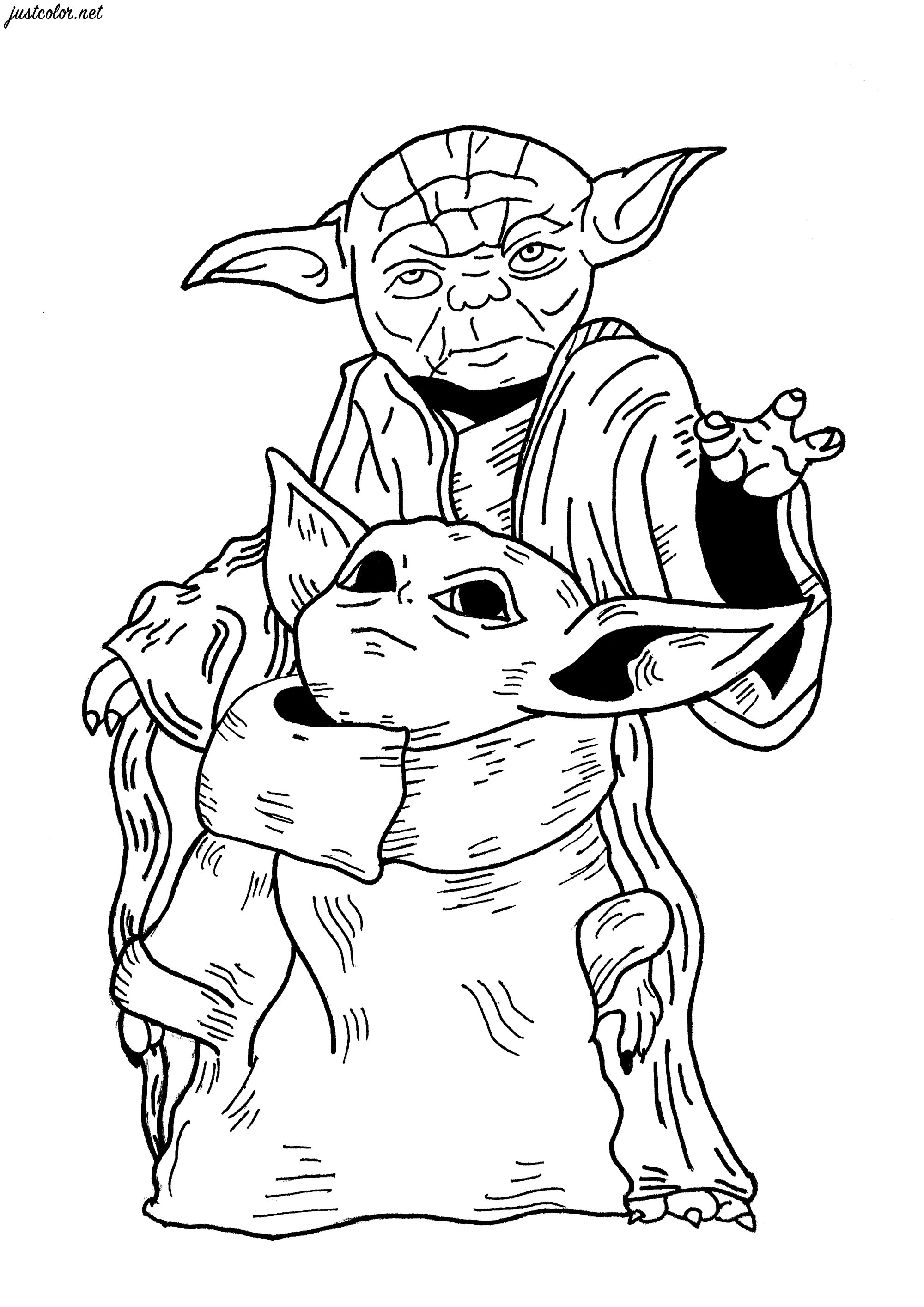 Baby Yoda Coloring Pages Coloring Home