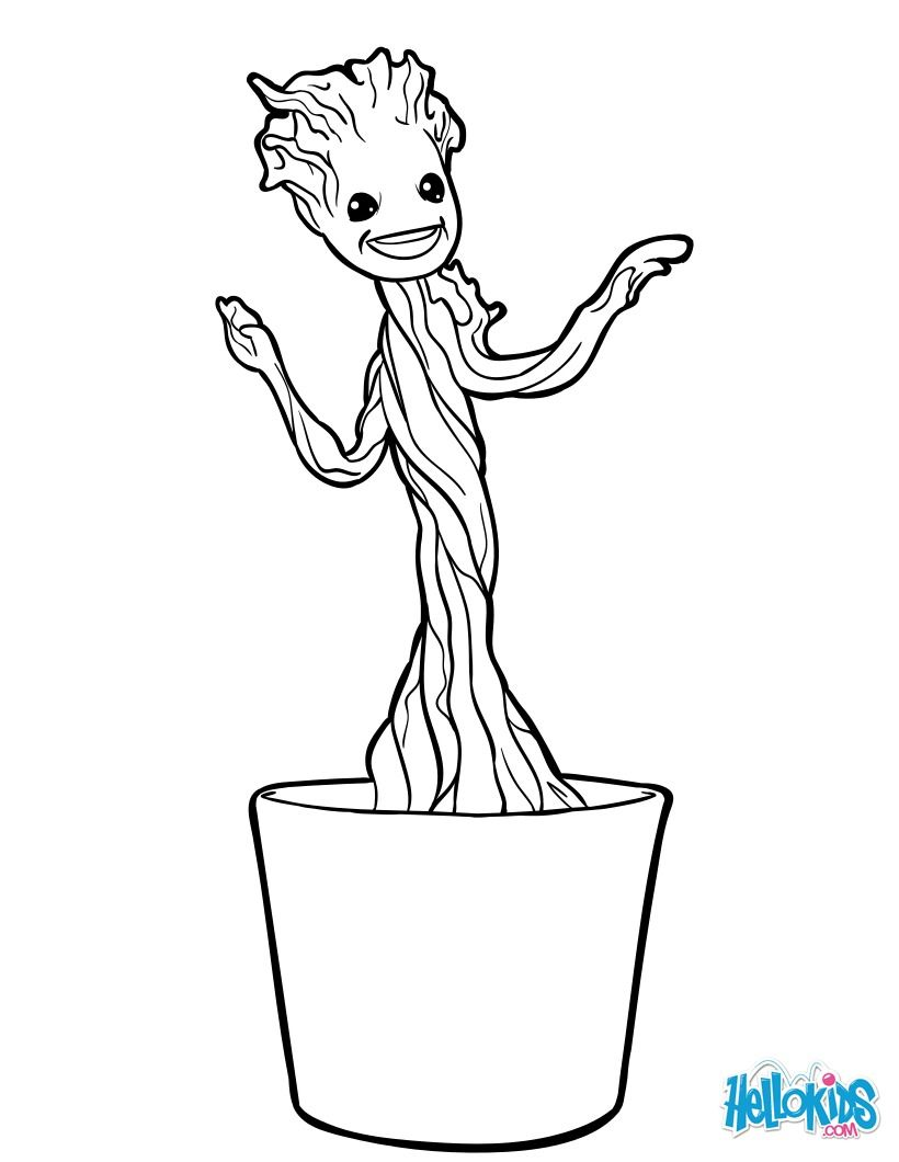 Little Groot coloring page. Discover more coloring pages ...