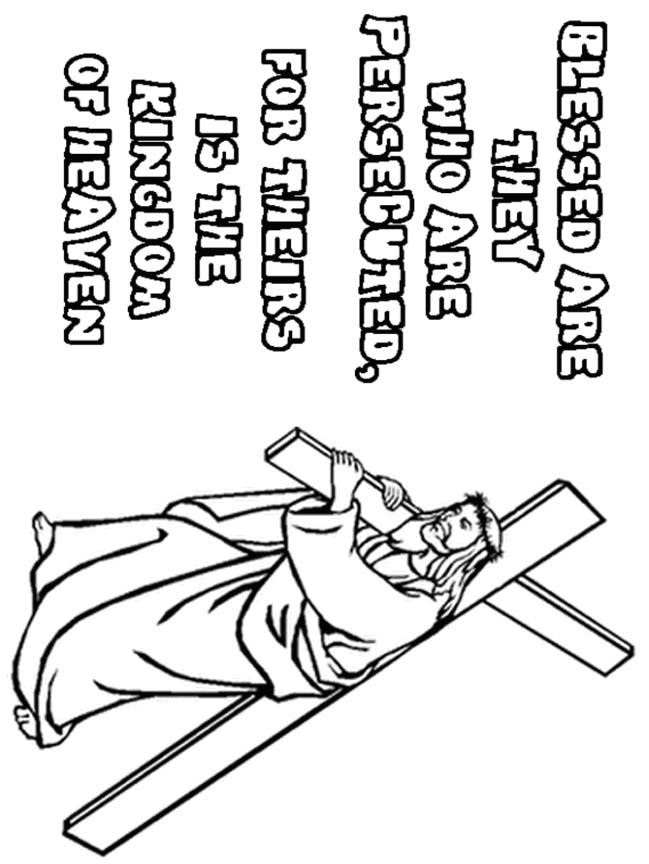 coloring pages beatitudes - photo#10