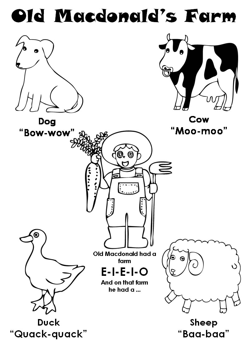 old mcdonald coloring pages - photo#3