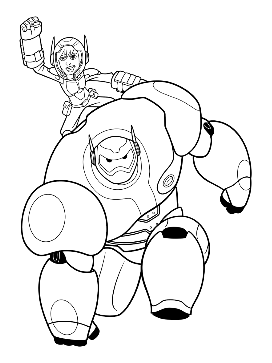 Big Hero 6 Coloring Pages - GetColoringPages.com   1200x900