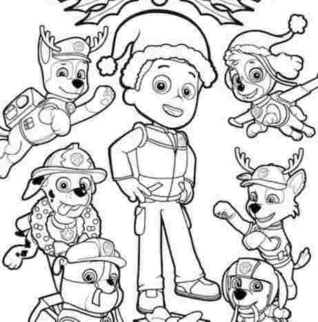 paw patrol ryder and chase coloring pages paw patrolpaw patrol ...