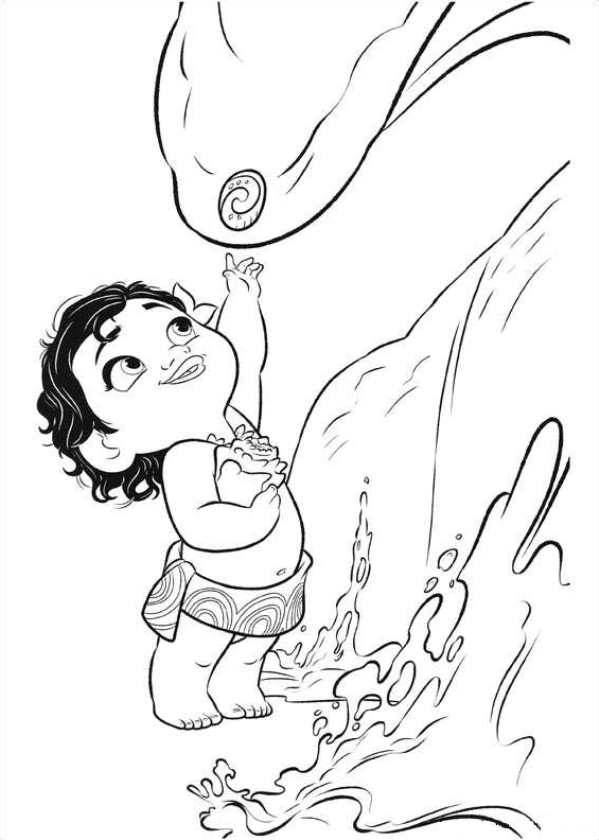 Moana Coloring Page