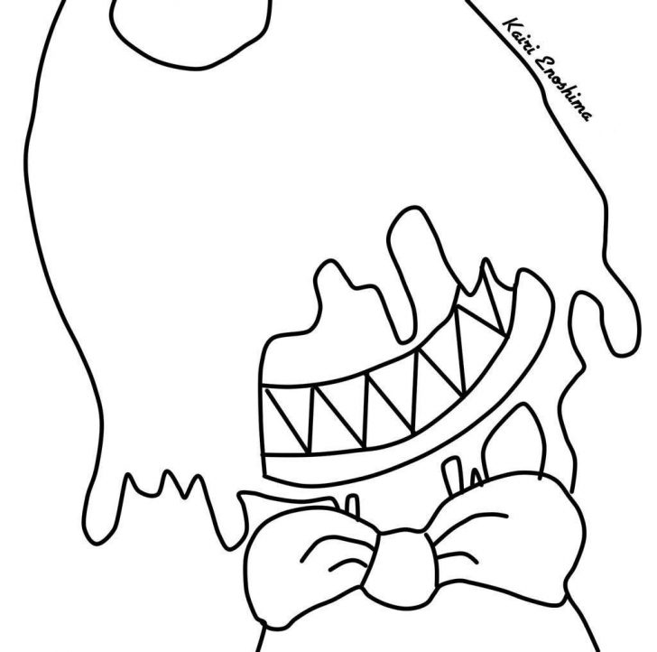 Coloring Pages Ideas 93 Bendy Coloring Pages Picture Ideas Ink Coloring Home