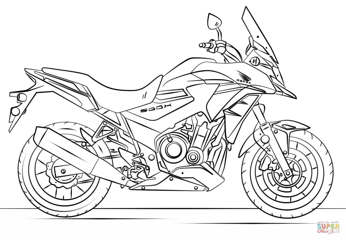 Motor Bikes Coloring Pages - Coloring Home