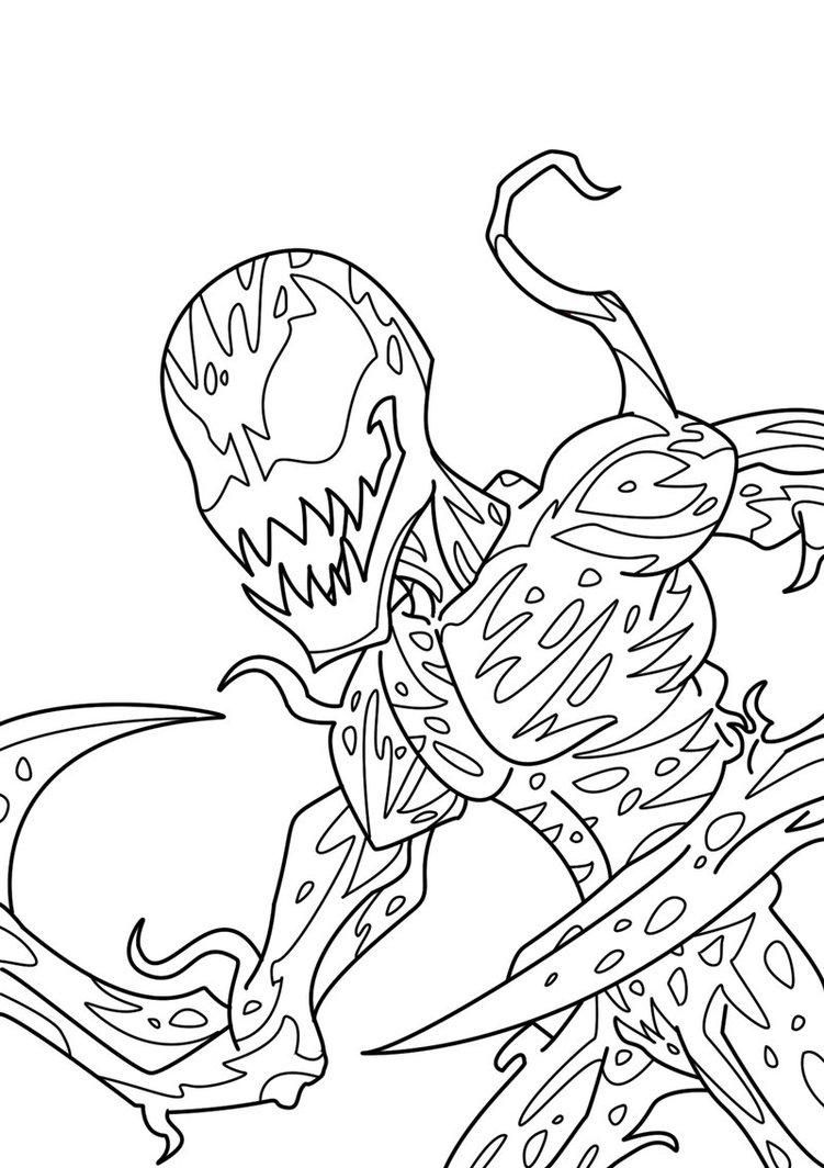 carnage spider man coloring pages - photo#1