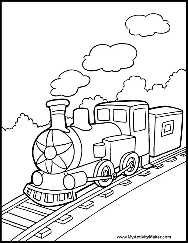 Little Engine That Could Coloring Pages Page 1 - Coloring Home