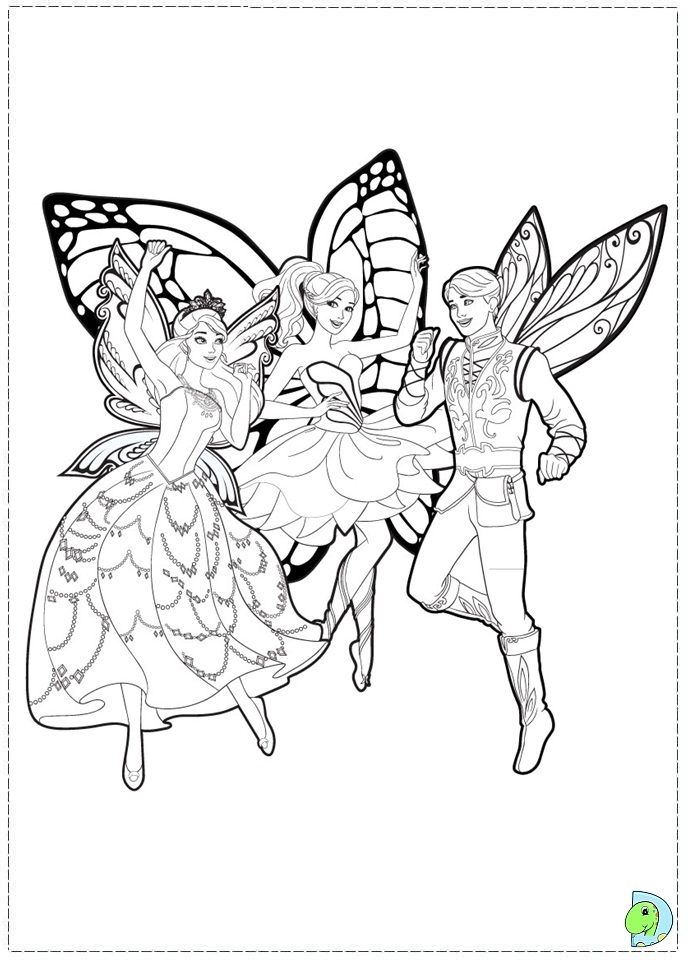 Barbie Mariposa And The Fairy Princess Coloring Page Coloring Home