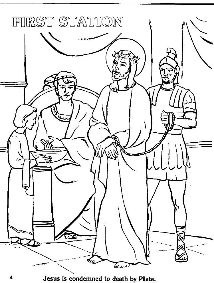 Coloring Page Stations Of The Cross