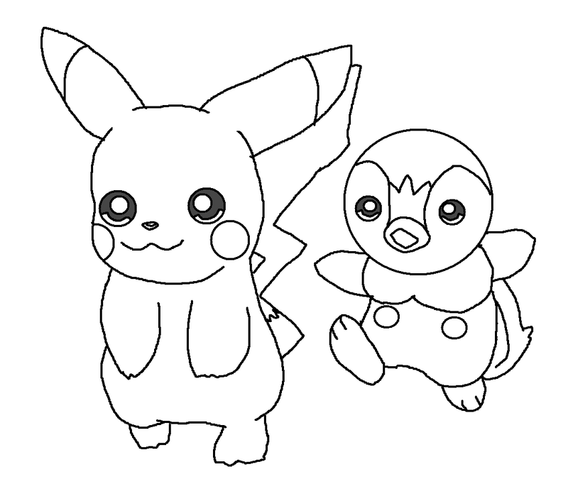 piplup cute coloring pages | Piplup Coloring Page - Coloring Home
