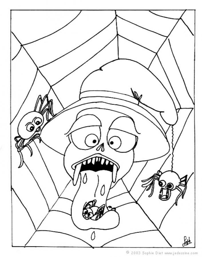 SPIDER coloring pages - Scary black widow