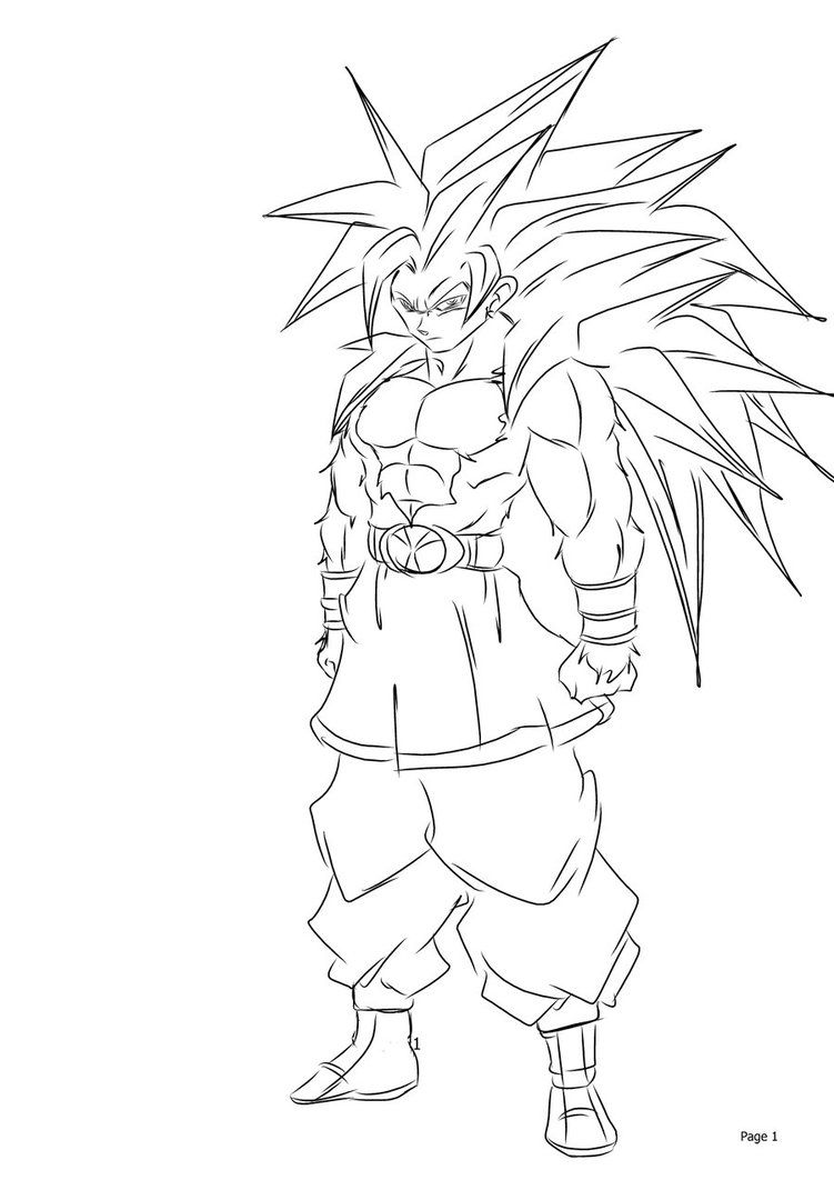 coloring pages of goku-#33