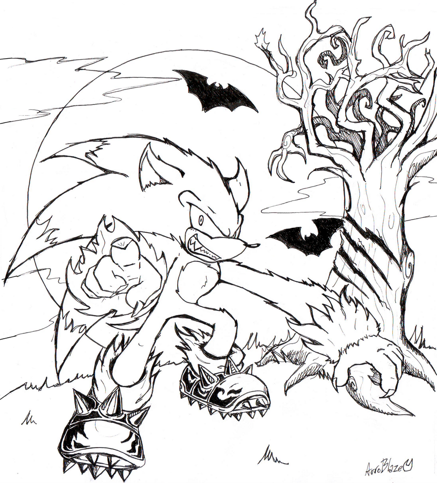 sonic the werehog coloring pages - photo#28