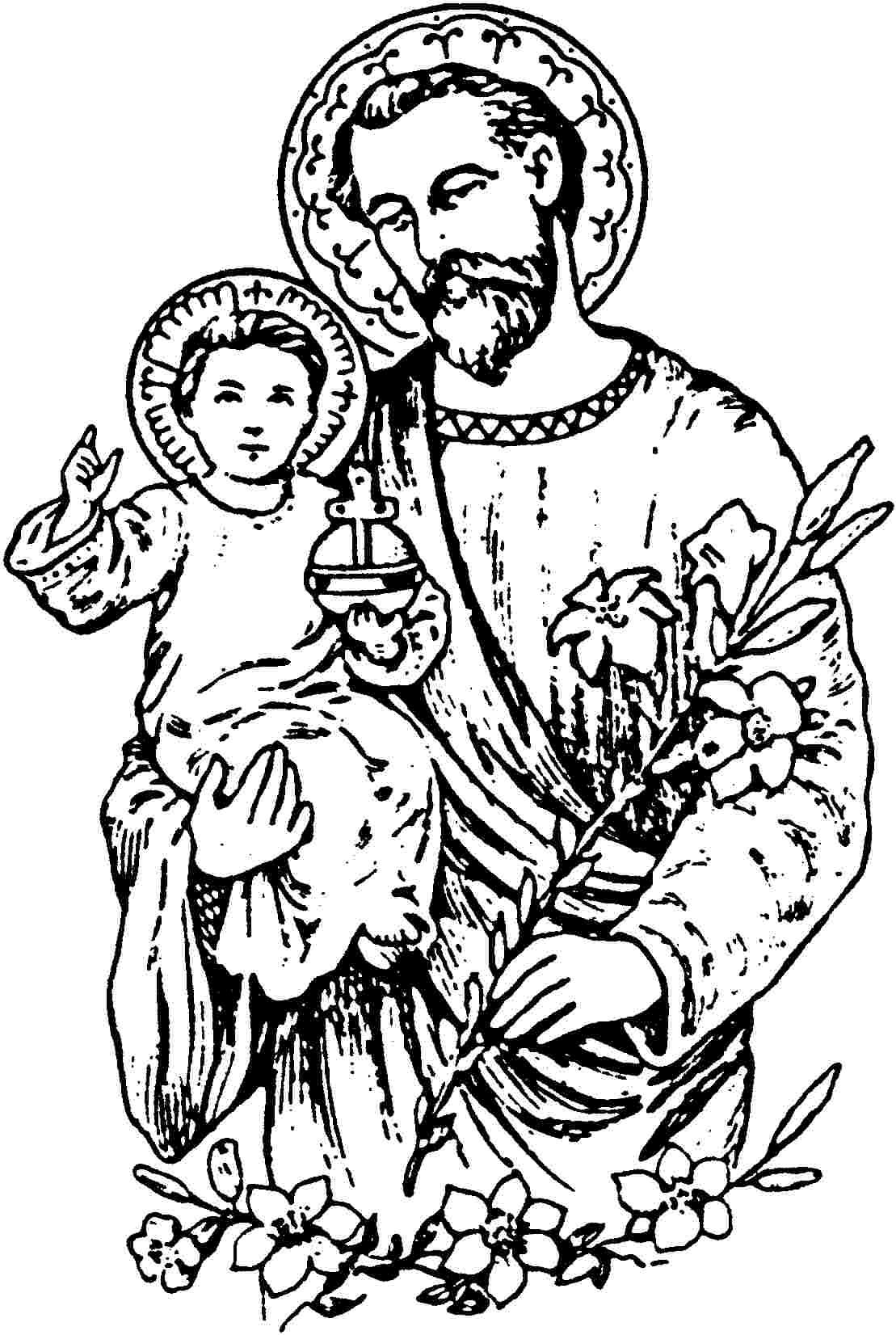 Joseph Coloring Pages Pdf : St joseph death coloring page saint