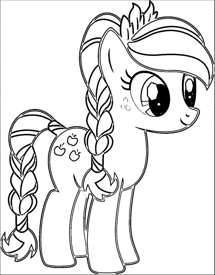 Pony Cartoon My Little Pony Coloring Page 003 | Christmas