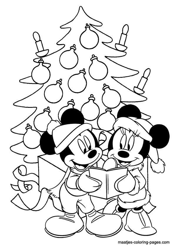 Mickey Mouse Free Christmas Tree Coloring Pages - Coloring ...