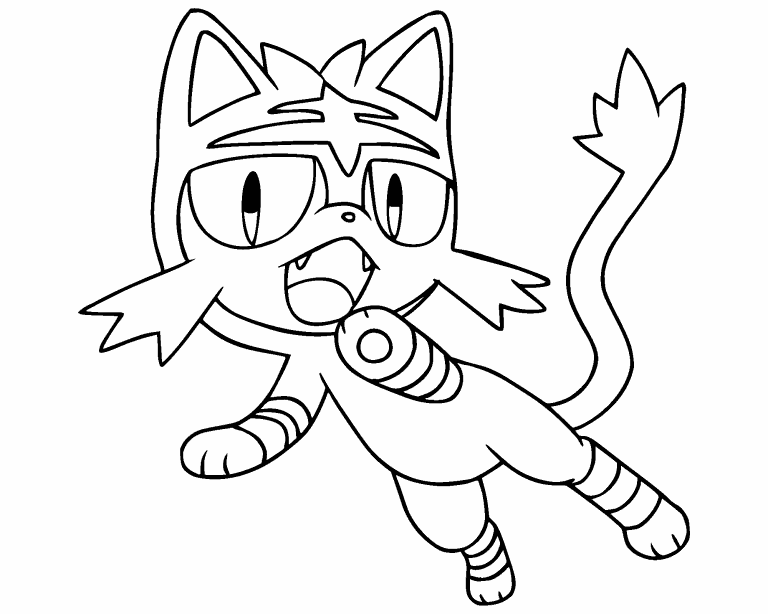 Litten Coloring Pages Coloring Home