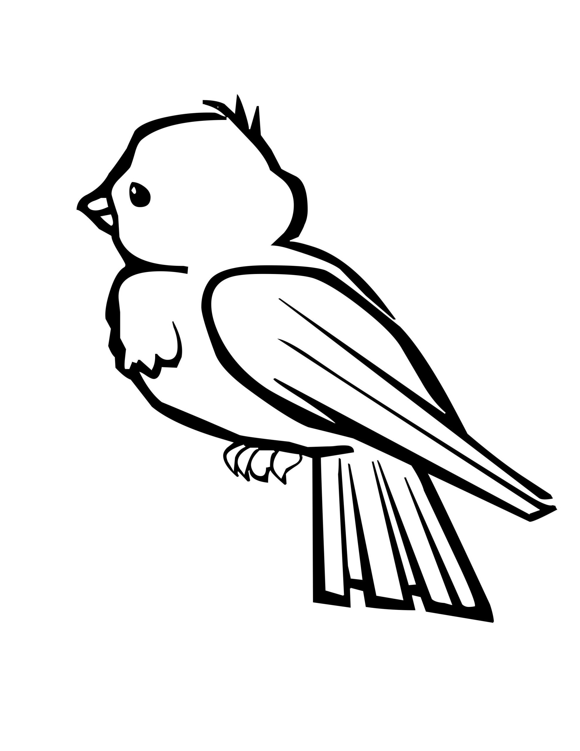 Bird Coloring Page Jpg With Images Freee Pages For Kids Christmas Robin  Tweety – Approachingtheelephant