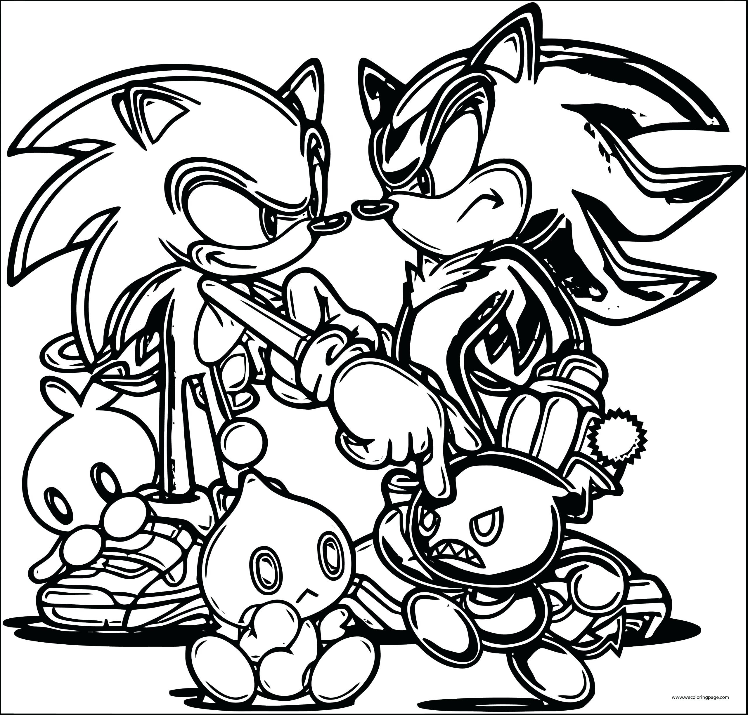 Shadow Sonic Coloring Pages - Coloring Home