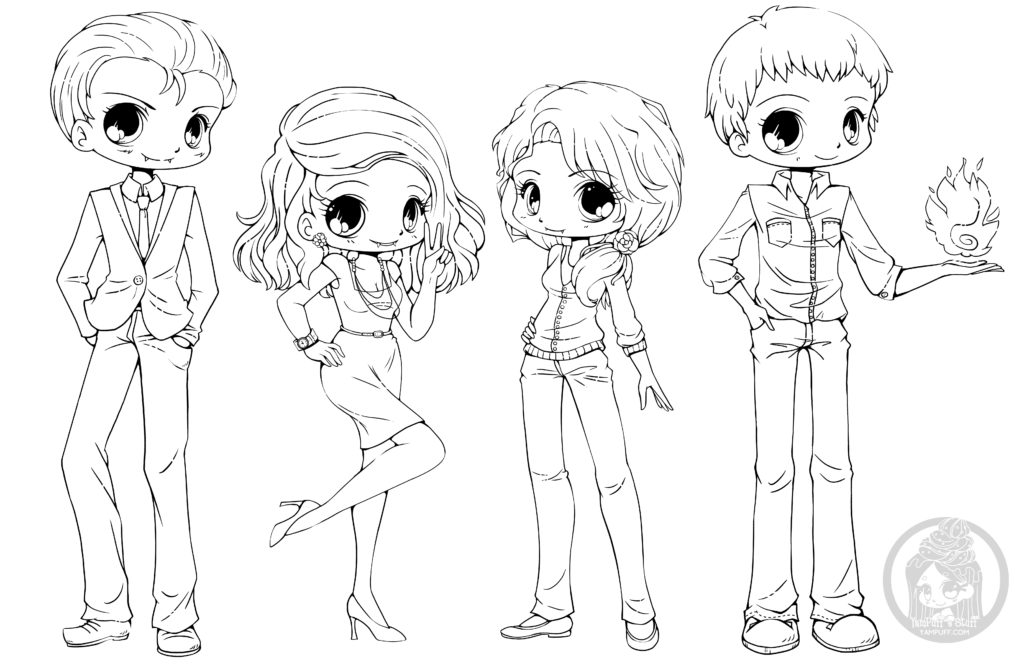 Chibi Coloring Pages Collection - Whitesbelfast