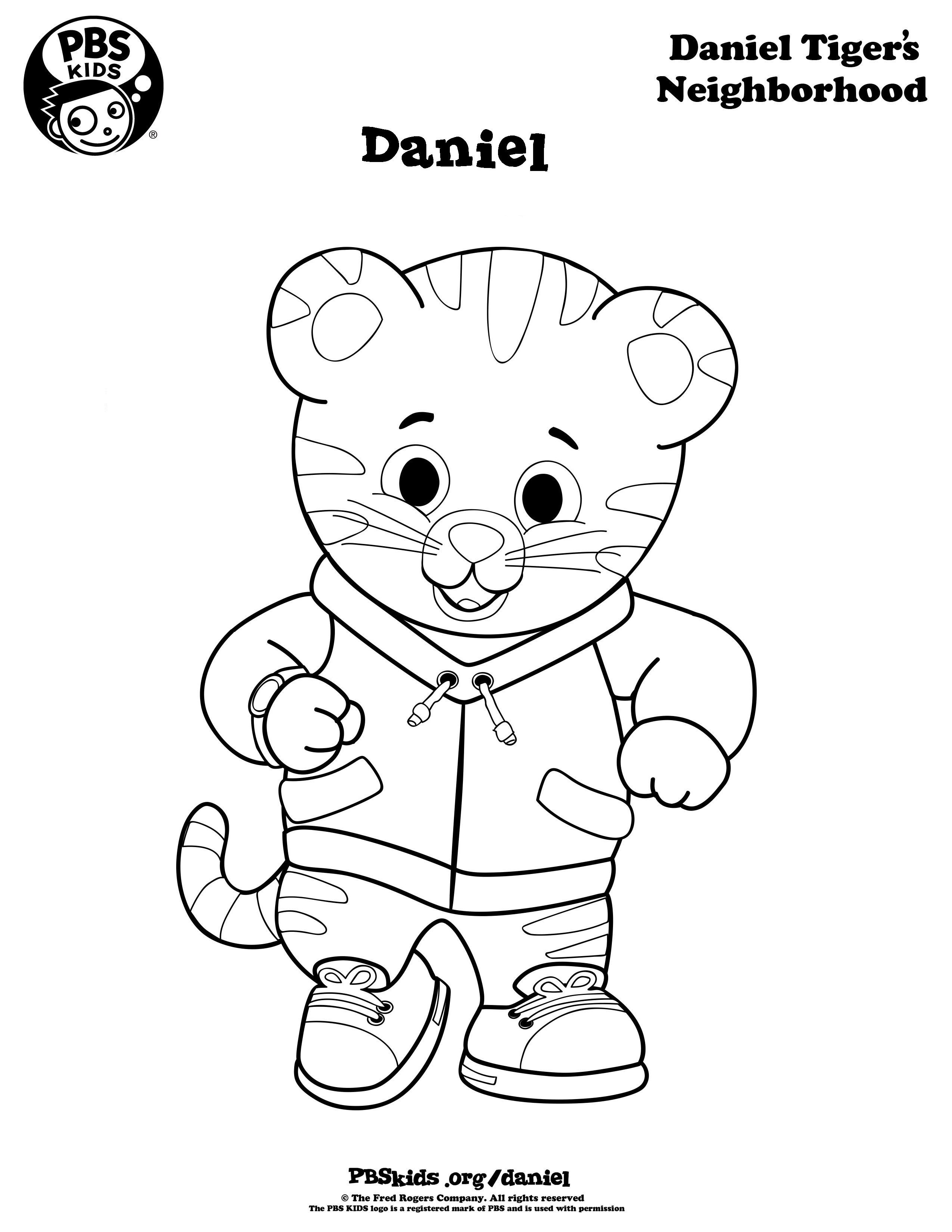 daniel tiger family coloring pages - photo#2