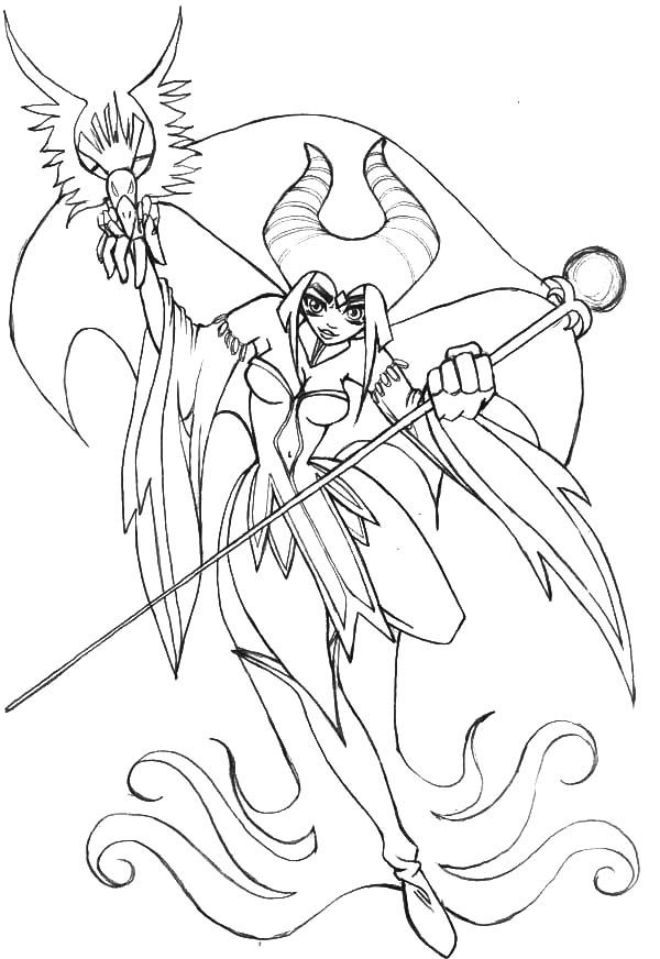 Maleficent Coloring Pages - Coloring Home