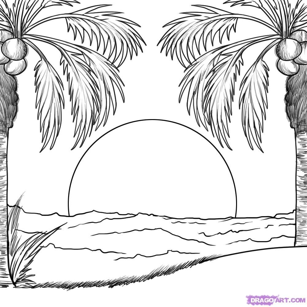 Coloring Pages For Hawaii Beaches - Coloring Home