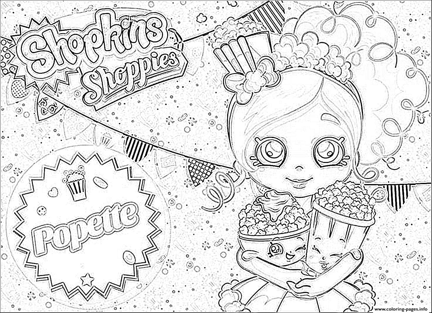 Shopkins Coloring Pages Coloring Home