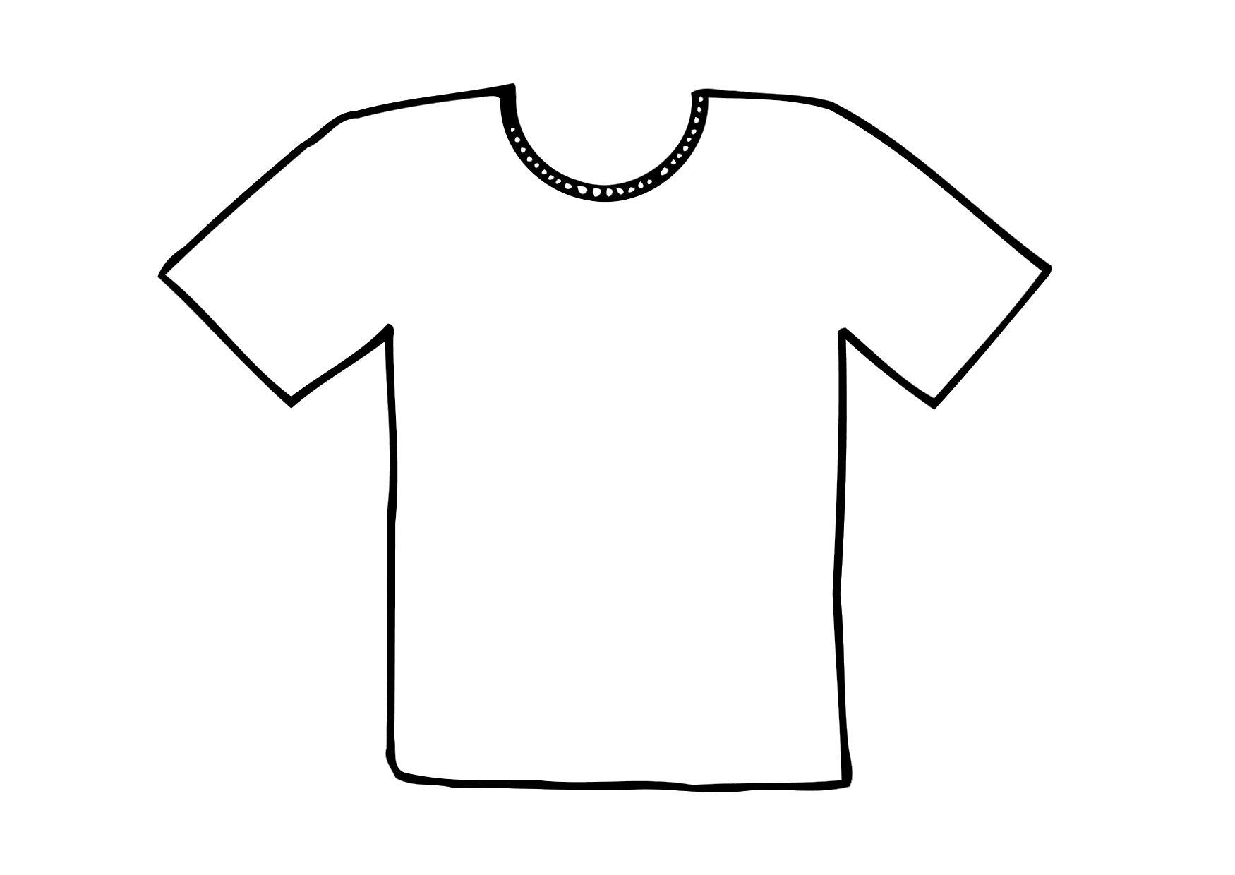 t shirt coloring page coloring home. Black Bedroom Furniture Sets. Home Design Ideas