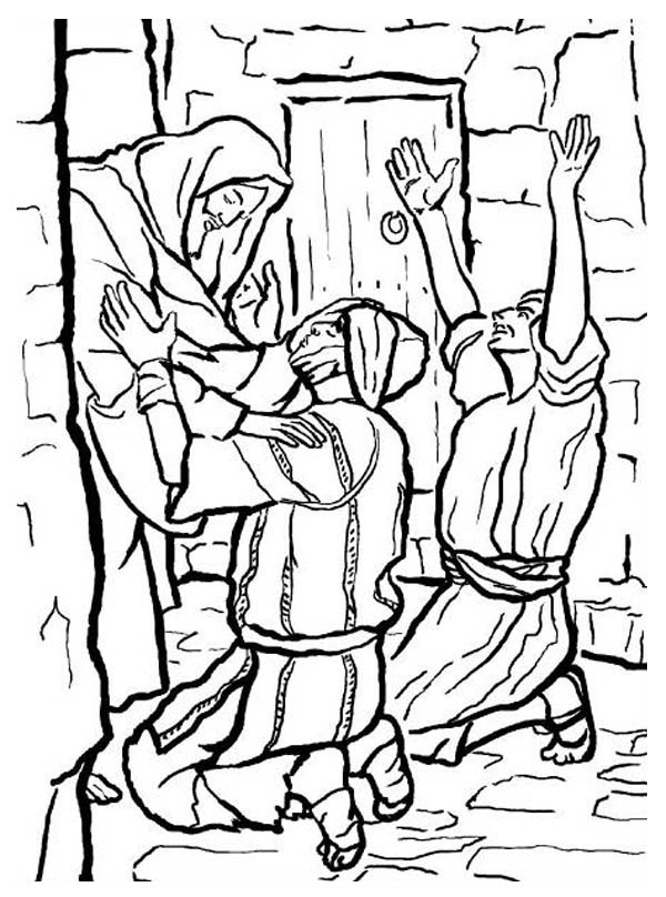 People Worship the Miracles of Jesus Coloring Page - NetArt