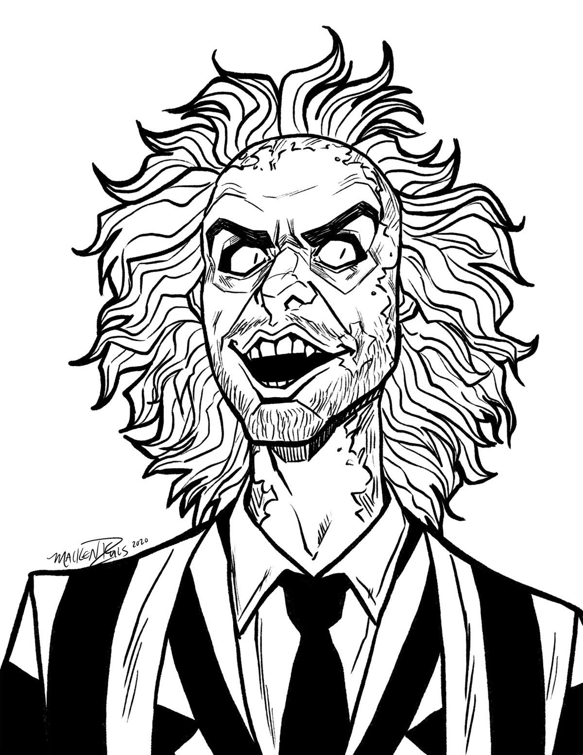 Beetlejuice Coloring Pages Coloring Home