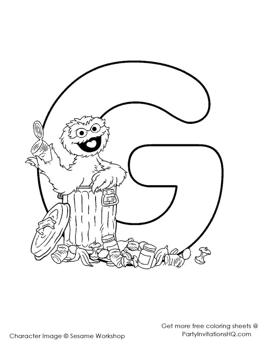 letter a coloring pages elmo - photo#11
